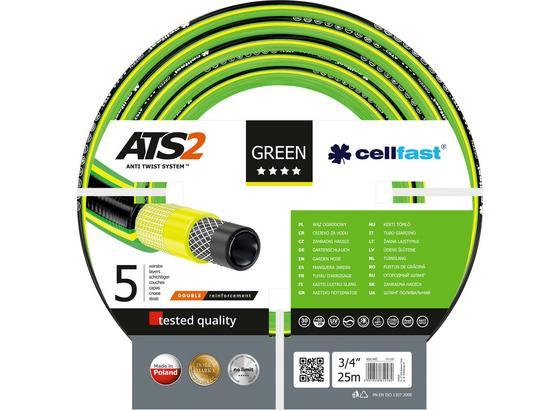 Gartenschlauch Green Ats2 3/4' 25m - Gelb/Schwarz, MODERN, Kunststoff (2500cm)