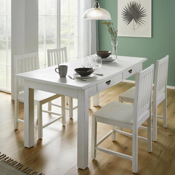 Jídelní Stůl Lewis Vintage - bílá, Moderní, dřevo (160/78/80cm) - Mömax modern living