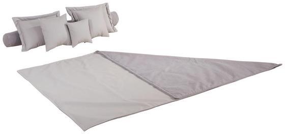 Zierkissenset Amona - Hellgrau, MODERN, Textil