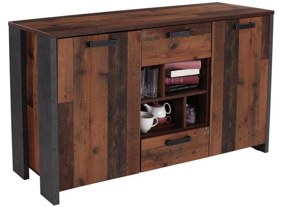 Komoda Sideboard Clif - tmavosivá, Moderný, kov/kompozitné drevo (156,4/86,3/41,6cm)