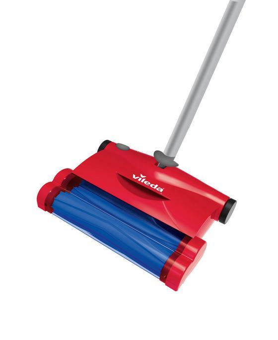 Smeták Quick & Clean Esweeper - červená, Konvenční