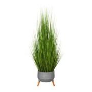 Kunstpflanze Grasbündel H: 150 cm - Grau/Grün, Trend, Kunststoff (150cm) - MID.YOU