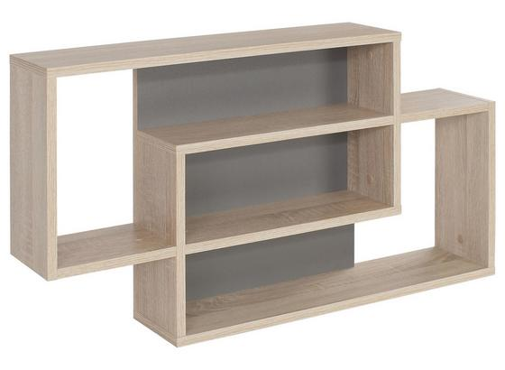 Hängeregal Dream 90x48cm, Grau/ Sonoma Eiche Dekor - Eichefarben/Grau, MODERN, Holzwerkstoff (90/48/16cm)