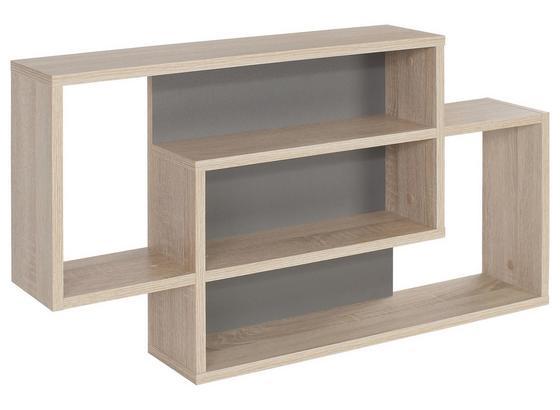 Nástenný Regál Dream Dxr11 - farby dubu/sivá, Moderný, kompozitné drevo (90/48/16cm)