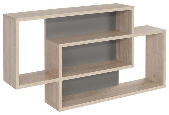 Regál Nástěnný Dream Dxr11 - šedá/barvy dubu, Moderní, dřevěný materiál (90/48/16cm)