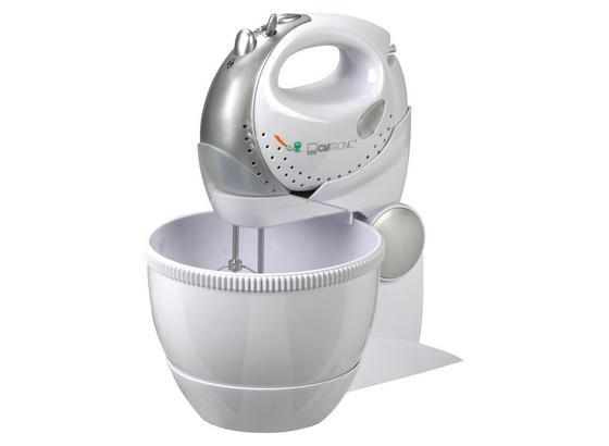 Handmixer-Set 3 in 1 Hms 2739 - Weiß/Grau, MODERN, Kunststoff/Metall (30/35/20cm) - Clatronic