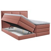 Boxspringbett mit Topper Swing 140x200 cm Altrosa - Altrosa, Design, Holzwerkstoff/Textil (140/200cm) - Xora