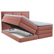 Boxspringbett mit Topper Swing 200x200 cm Altrosa - Altrosa, Design, Holzwerkstoff/Textil (200/200cm) - Xora