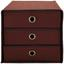 Zásuvkový Box Cubi New - hnědá, Moderní, karton/textil (32/31,5/32cm)
