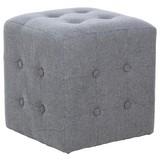 Sitzwürfel Grey - Grau, MODERN, Textil (40/40/40cm)