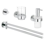 Grohe Badezimmerset Essentials Bad Set 40846001 - Chromfarben, MODERN, Glas/Metall - Grohe