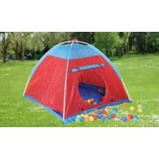 Spielzelt Rot/Blau B: 110 cm - Blau/Rot, Basics, Textil/Metall (110/84/110cm)