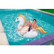 Schwimmtier Pegasus - Goldfarben/Weiß, Kunststoff (159/109cm) - Ombra