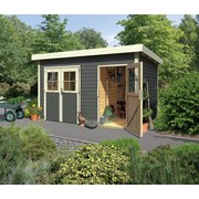 Gartenhaus Terragrau 364x230x244cm - Grau, Holz (364/230/244cm) - Karibu