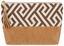 Kosmetiktasche Boho - Schwarz/Braun, LIFESTYLE, Leder/Textil (27/7.5/15cm)