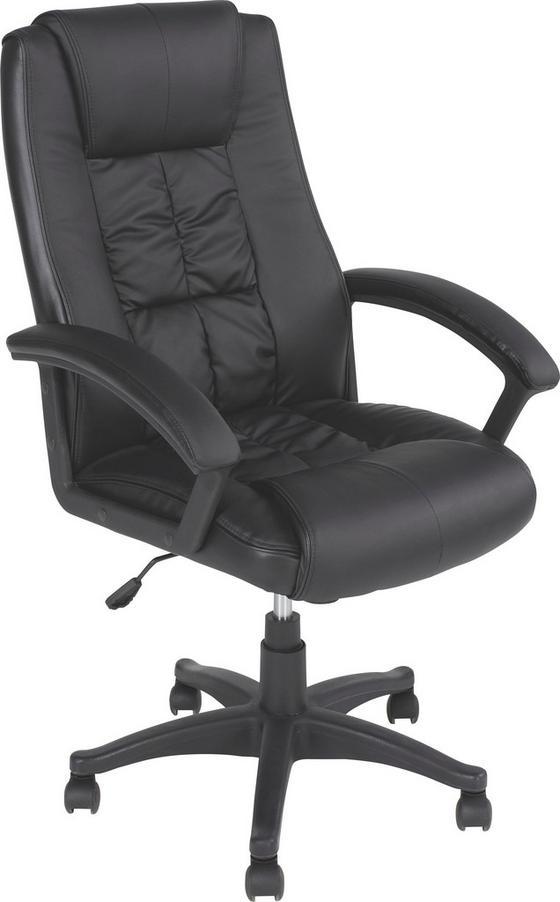 Kancelářské Křeslo Tarvis - černá, Moderní, textil/umělá hmota (65/105-115/71,50cm)