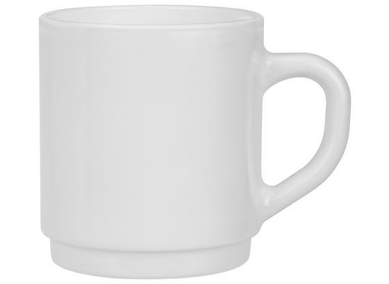 Kaffeebecher Olivia *ph* ca. 290ml - Weiß, KONVENTIONELL, Glas (7,9/9cm)