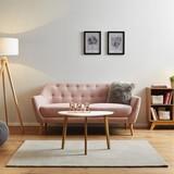 Pohovka Anela - ružová, Moderný, drevo/textil (168/84/79cm) - Modern Living