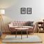 Pohovka Anela - ružová, Moderný, drevo/textil (168/79/84cm) - Modern Living