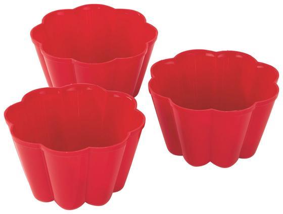 Puddingform 3-teilig - Blau/Rot, KONVENTIONELL, Kunststoff (9.5/6.8cm)