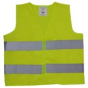 Warnweste für Erwachsene - Gelb, KONVENTIONELL, Textil