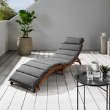 Záhradné Lehátko Bora - tmavosivá, Moderný, drevo/textil (186/54/56cm) - Modern Living
