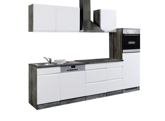 Küchenblock Cardiff B: 280cm Weiß/Vintage - Eichefarben/Weiß, Basics, Holzwerkstoff (280/200/60cm) - MID.YOU