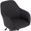 Otočná Židle Melbourne - barvy chromu/antracitová, Moderní, kov/textil (57,5/84,5-94,5/58,5cm) - Luca Bessoni
