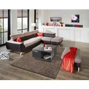 Wohnlandschaft in L-Form Upgrade 280x233 cm - Chromfarben/Beige, MODERN, Textil (280/233cm)