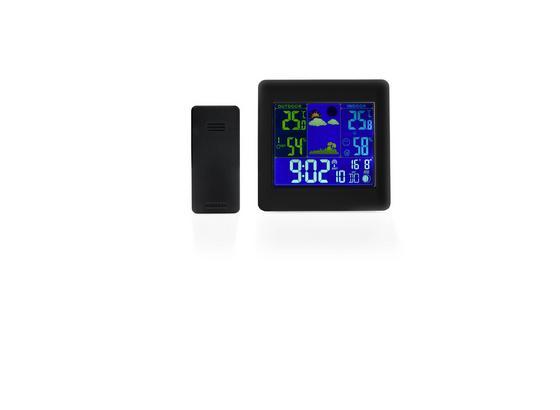 Barometer Tim - čierna/biela, Basics, plast (12/12/2cm)