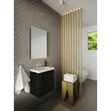 Badmöbel-Set 3-Tlg Allibert 40cm, Schwarz - Schwarz/Weiß, MODERN, Keramik/Holzwerkstoff (40cm) - Livetastic