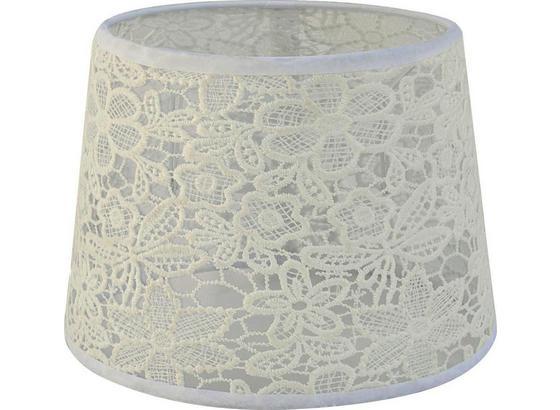 Stínidlo Svítidla Rossi - bílá, Romantický / Rustikální, textil (16,5-20/15,6cm) - Mömax modern living