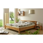 Doppelbett Echtholz 140x200 Merci, Buche - Buchefarben, KONVENTIONELL, Holz (140/200cm) - Livetastic