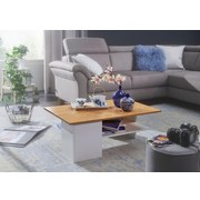 Couchtisch Weiß Sandfarben - Sandfarben/Weiß, MODERN, Holzwerkstoff (90/60/35cm) - Livetastic