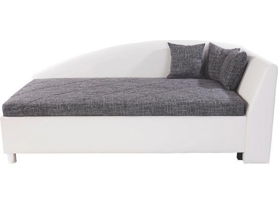 polsterbett andrew 110x200 wei grau online kaufen m belix. Black Bedroom Furniture Sets. Home Design Ideas