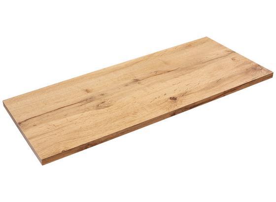 Nástenná Polica Skate 80/30 - farby dubu, Moderný, kompozitné drevo (80/1,8/30cm)