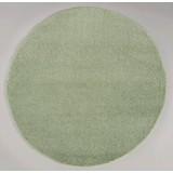 Hochflorteppich Nobel Micro 140 Rund - Grün, MODERN, Textil (140cm)