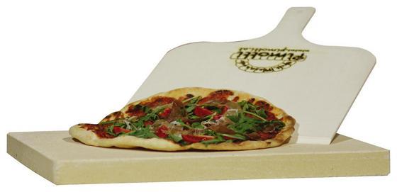 Pizzastein Pimotti 3-teilig - Beige, MODERN, Stein (40/30/3cm) - Mediashop