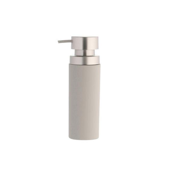 Seifenspender Lena - Taupe, MODERN, Kunststoff/Metall (6,5/21cm)