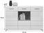 Sideboard Rhodos B:151cm Weiß/ Wotan Eiche Dekor - Eichefarben/Weiß, MODERN, Holzwerkstoff (151/96/36cm)