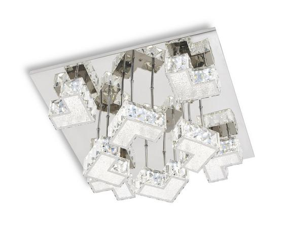 Mennyezeti Lámpa Bastian - krómszínű, konvencionális, műanyag/fém (40/40/10,5cm) - LUCA BESSONI