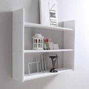 Wandregal Mona B: 90 cm Weiß - Weiß, Basics, Holz (90/74/20cm) - MID.YOU
