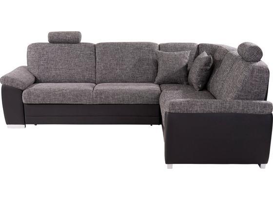 Sedací Souprava Sava - šedá/černá, Konvenční, dřevo/textil (262/212cm)