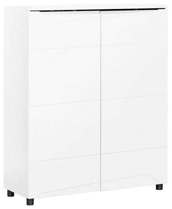 Highboard Newport 101,5cm Weiss - Weiß, MODERN, Holzwerkstoff (101.5/125/39cm)