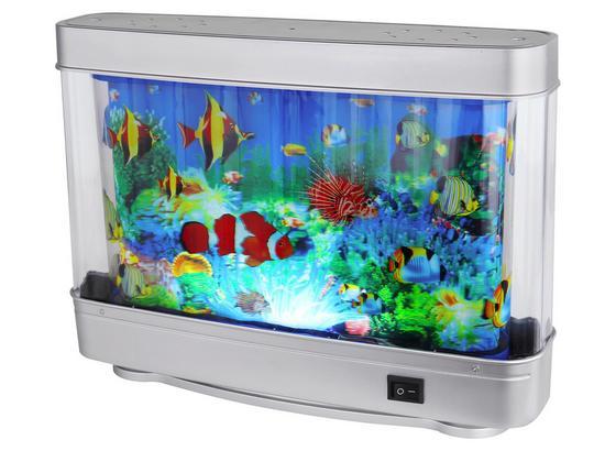 Tischleuchte Aquarium - Klar/Silberfarben, Basics, Kunststoff (31/7,5/23cm)