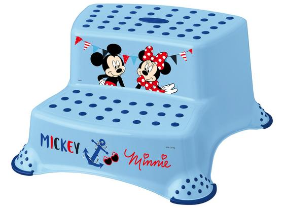Tritthocker Igor Mickey - Blau/Hellblau, Kunststoff (40/37/21cm) - Disney