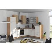 Eckküche Fargo 285x220cm Weiß/Eiche - Eichefarben/Weiß, MODERN, Holzwerkstoff (285/220cm) - Vertico