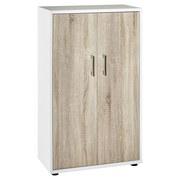 Aktenschrank Serie 200 B:65,1cm Weiß/Eiche - Weiß/Sonoma Eiche, Basics, Holzwerkstoff (65,1/110,9/34,5cm) - MID.YOU