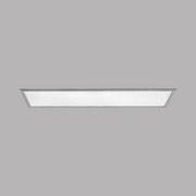 LED-Paneel Salobrena 2 - Alufarben/Weiß, MODERN, Kunststoff/Metall (120/30/1,1cm)