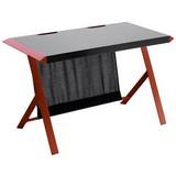 Gaming Tisch Mc Racing B: ca. 127 cm - Edelstahlfarben/Rot, Design, Holzwerkstoff/Metall (127/75/60cm) - Carryhome